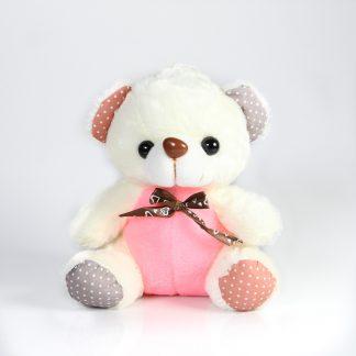 αρκουδακι λουτρινο 9 με κορδελα οργαντζα-0