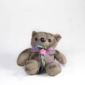 αρκουδακι λουτρινο 10 με κορδελα οργαντζα-0